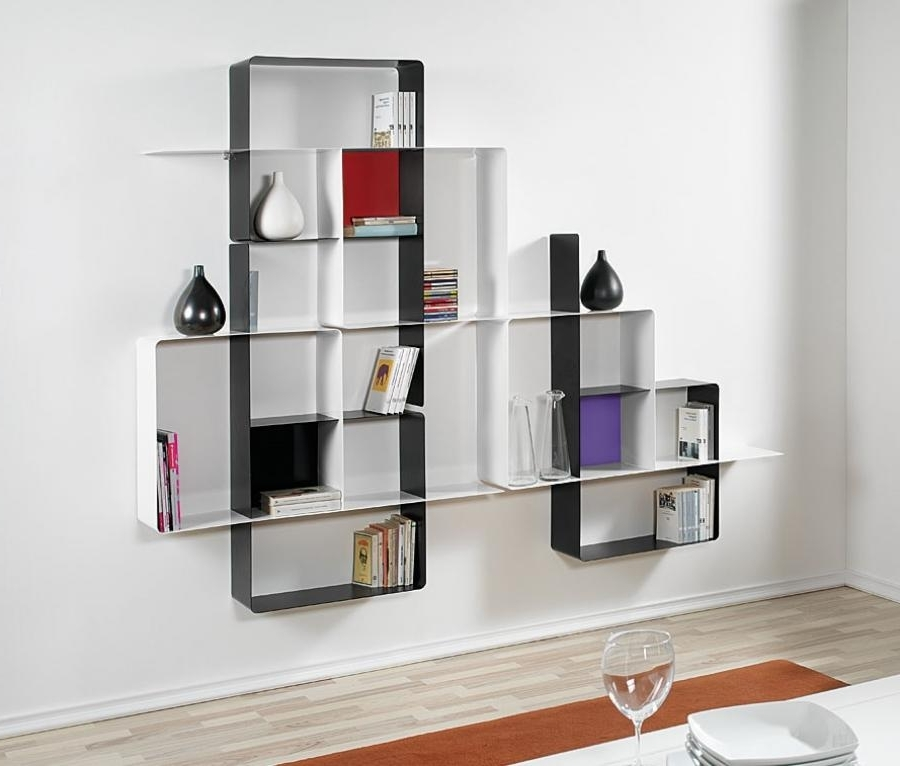 Wall Shelves Design: Best Collection Wall Shelving Units Uk Tall Pertaining To Fashionable Wall Shelving Units (View 13 of 15)