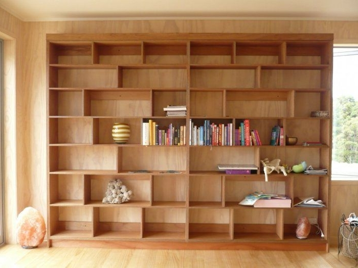 Wall Shelves Design: Plywood Wall Shelves For Modern Home Within Newest Plywood Bookcases (View 14 of 15)