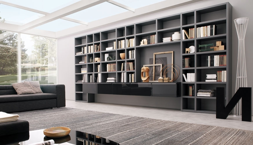 Wall To Wall Bookcases Pertaining To Widely Used Wooden Showcase Designs For Living Room Wall Units Living Room (View 13 of 15)