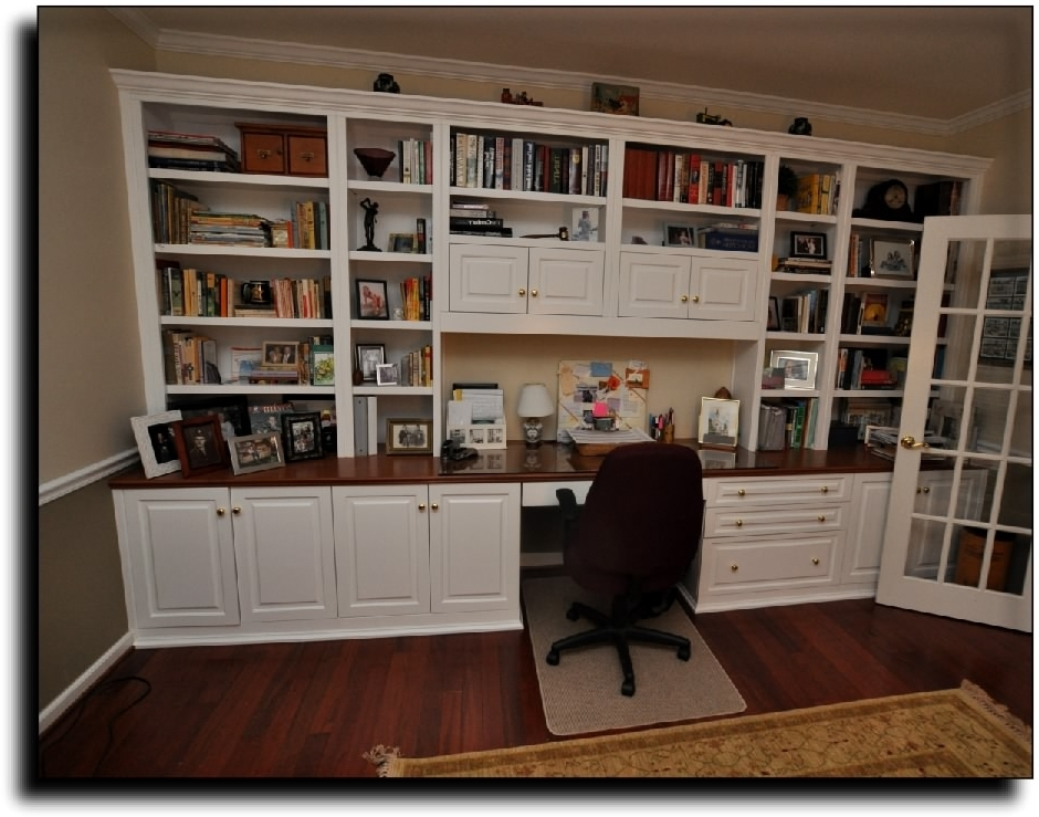 Wall Units. Extarordinary Home Office Wall Units With Desk: Home With Most  Recent Office