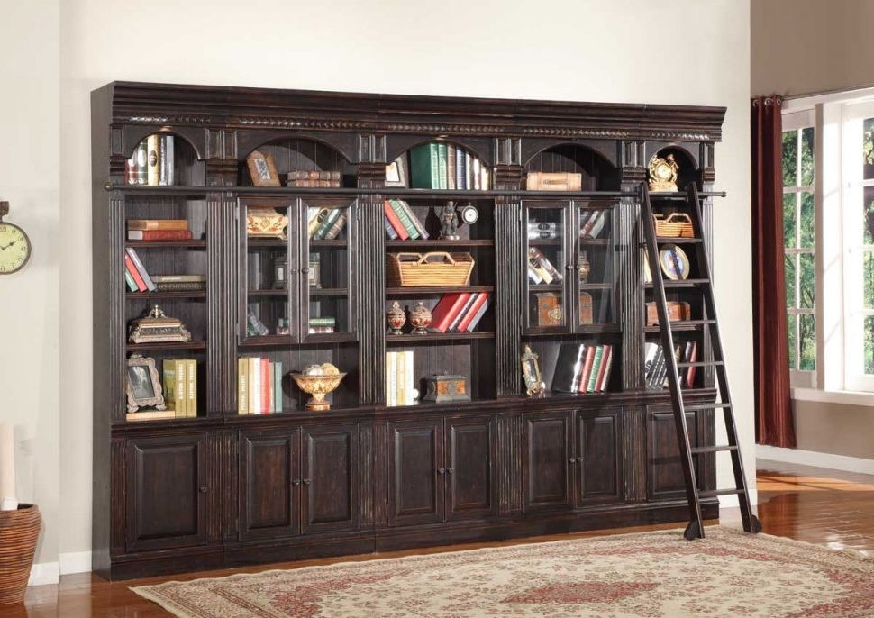 Wall Units: Stunning Bookcase Wall Units Library Wall Units Regarding Recent Home Library Wall Units (View 9 of 15)