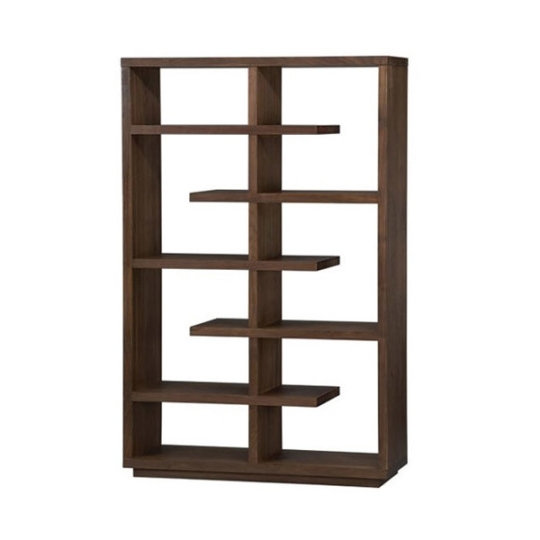 Walnut Bookcases In Popular Elevate Walnut Bookcase Bookcases Brown Crate & Barrel Modern (View 12 of 15)