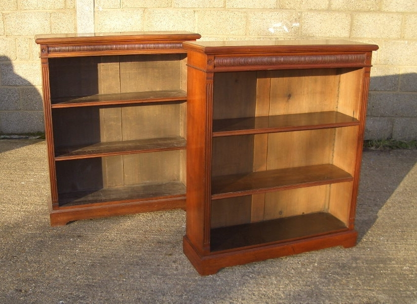 Walnut Bookcases With Well Liked Antique Furniture Warehouse – Antique Pair Victorian Bookcases (View 14 of 15)