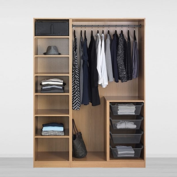 Wardrobe Design : Ikea Closet Systems Online Design Build Shelves Within Preferred Large Double Rail Wardrobes (View 5 of 15)