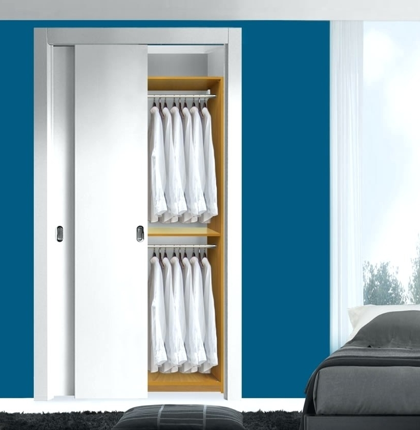Wardrobes ~ Double Width Wardrobe Hanging Rail Single Wardrobe In Well Known Tall Double Hanging Rail Wardrobes (View 14 of 15)