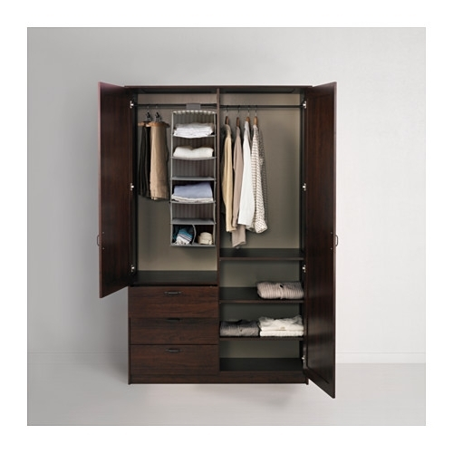Wardrobes Drawers And Shelves Ikea Throughout Well Liked Musken Wardrobe With 2 Doors+3 Drawers – Brown – Ikea (View 13 of 15)