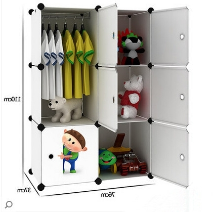 Wardrobes For Baby Clothes Intended For Well Liked Simple Children's Baby Wardrobe Lockers Finishing Cabinet Baby (View 4 of 15)