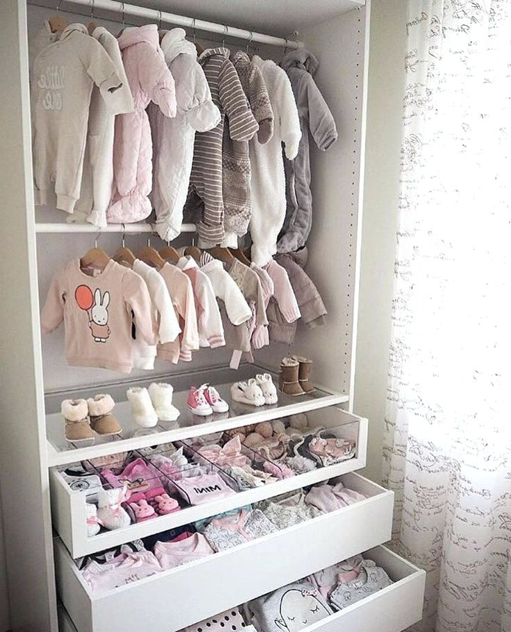 Wardrobes For Baby Clothes Within Widely Used Wardrobes ~ Baby Wardrobe Ikea Malaysia A Nursery With A White Cot (View 3 of 15)