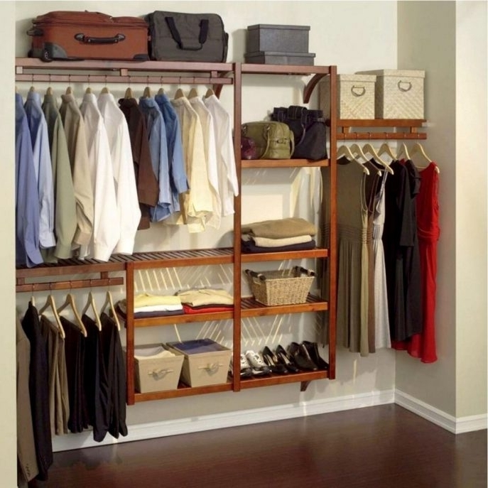 Wardrobes Hangers Storages Pertaining To 2017 Closet Storage : Garment Rack Store Clothes Storage Closet (View 13 of 15)