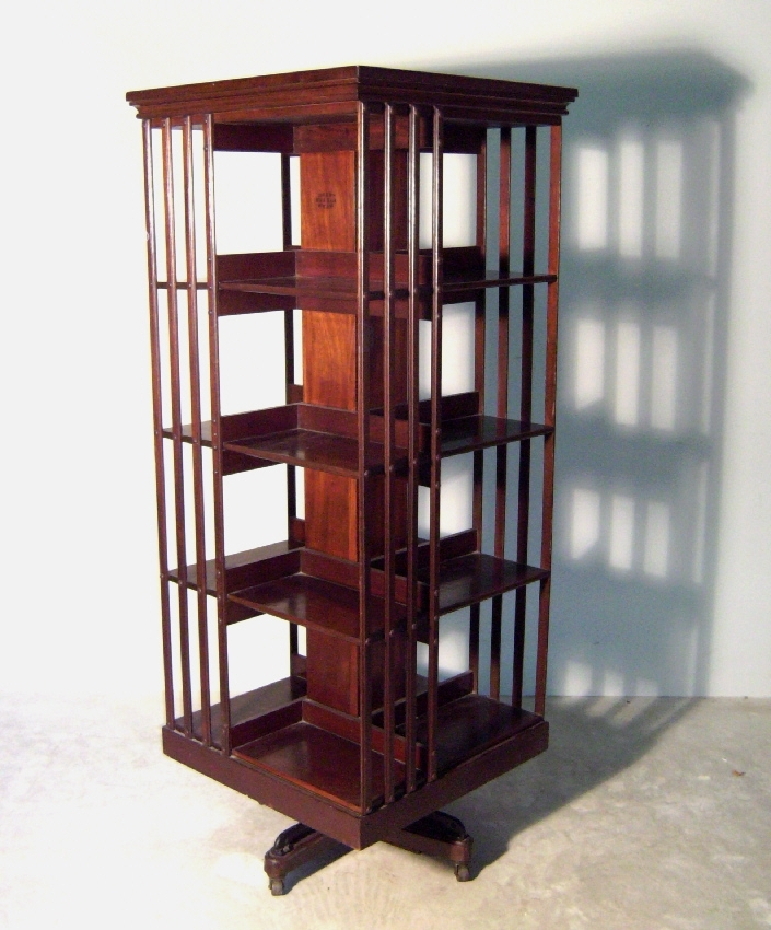 Well Known A Square Rotating Bookcase, Without Plans, But I Like The Bars Pertaining To Rotating Bookcases (View 2 of 15)