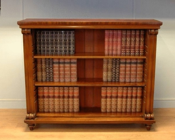 Well Known Antique Bookcases Throughout Quality Regency Mahogany Open Antique Bookcase (C (View 15 of 15)