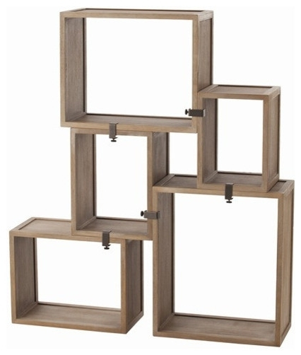 Well Known Arteriors Home – Arteriors Home Stockard Oak Modular Shelves In Oak Wall Shelving Units (View 14 of 15)