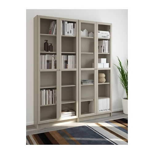 Well Known Billy / Oxberg Bookcase – White/glass – Ikea Intended For Ikea Billy Bookcases (View 14 of 15)