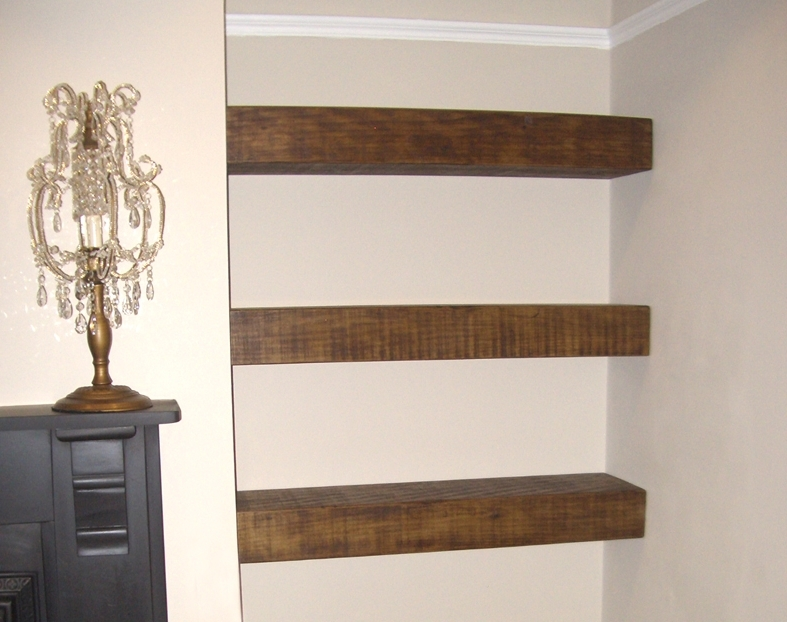 Well Known Chunky Floating Shelf – The Cool Wood Company Regarding Handmade Wooden Shelves (View 14 of 15)