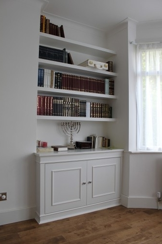 Well Known Fitted Alcove Cupboards And Bookshelves, Bespoke Cabinets For Bookcases With Cupboards (View 13 of 15)