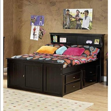 Well Known Full Bed With Bookcase Headboard And Storage – Walmart Inside Full Size Storage Bed With Bookcases Headboard (View 14 of 15)