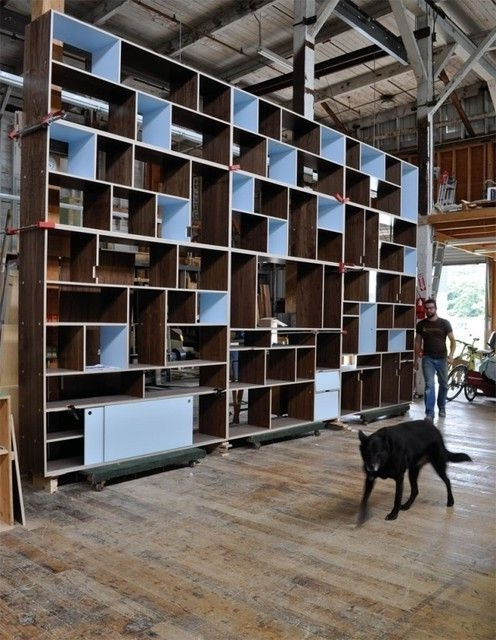 Well Known Full Wall Bookcase Modern Bookcases Seattle Kerf Design Full Wall With Regard To Full Wall Bookcases (View 3 of 15)