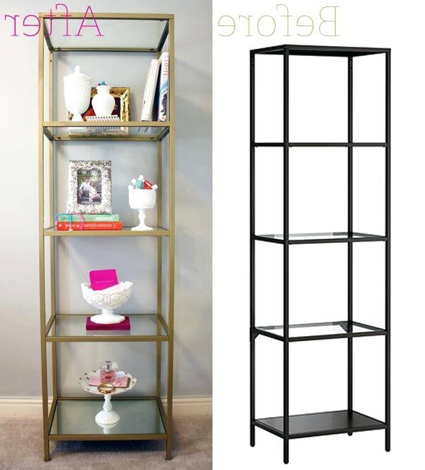 Well Known Glass Bookshelf Ikea Bookshelf Captivating Modern Bookcases Cube Throughout Gold Metal Bookcases (View 15 of 15)