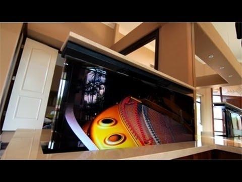 Well Known Hidden Tv Units Regarding Custom Built In Hidden Tv Cabinet In Luxury Home – Youtube (View 15 of 15)