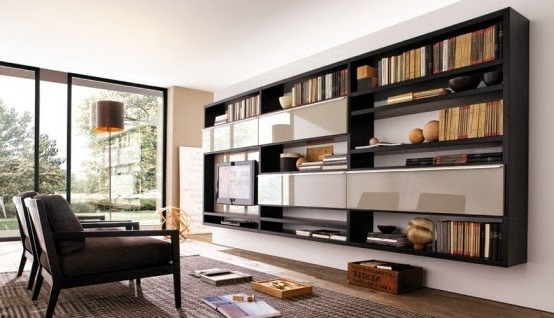 Well Known Home Library Wall Units Regarding Living Room Design Catalog: Living Room Wall Unit Design For Home (View 5 of 15)