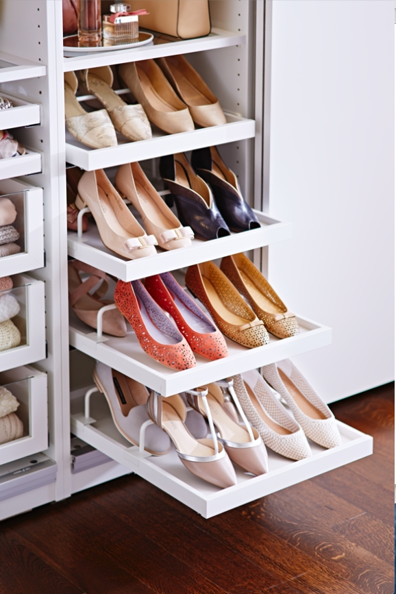 Well Known Ikea How To: Create A Wardrobe That's Meant For Sharing Within Wardrobes Shoe Storages (View 14 of 15)