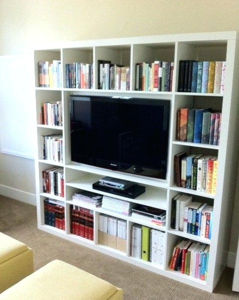 Well Known Ingenious Ideas Bookcase With Tv Unit Stand Combo The Best On Pertaining To Tv Unit And Bookcases (View 13 of 15)