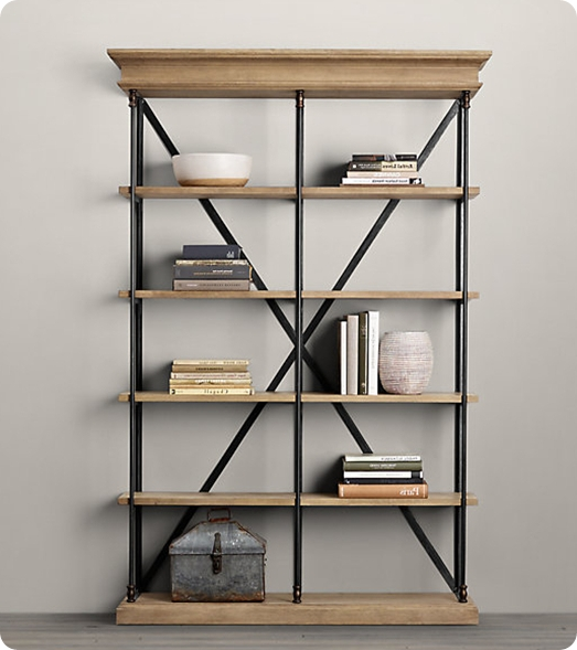 Featured Photo of Iron And Wood Bookcases