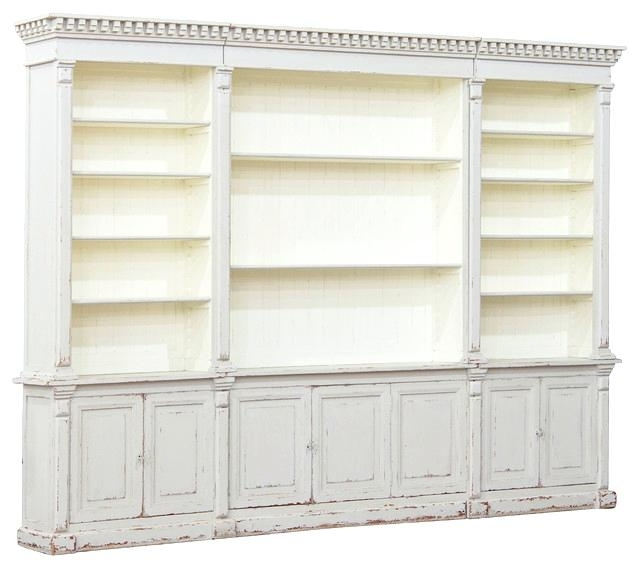 Well Known Large Wooden Bookcases Pertaining To Large White Bookcases Beautiful Laundress French Country (View 3 of 15)
