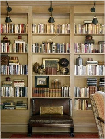Featured Photo of Library Bookcases Lighting