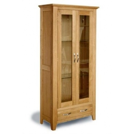 Well Known Oak Glazed Bookcases Regarding Contemporary Oak Glazed Bookcase – Woodys Furniture (View 15 of 15)