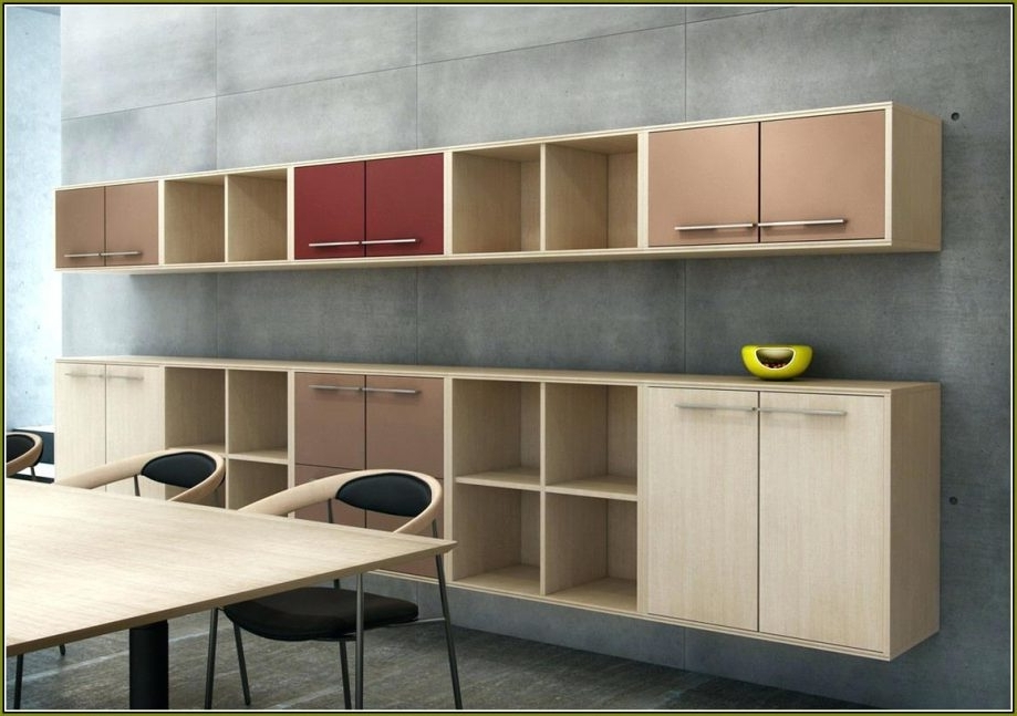Well Known Office Wall Cupboards With Regard To Outstanding Extraordinary Office Wall Cabinets Design Ideas Of (View 14 of 15)