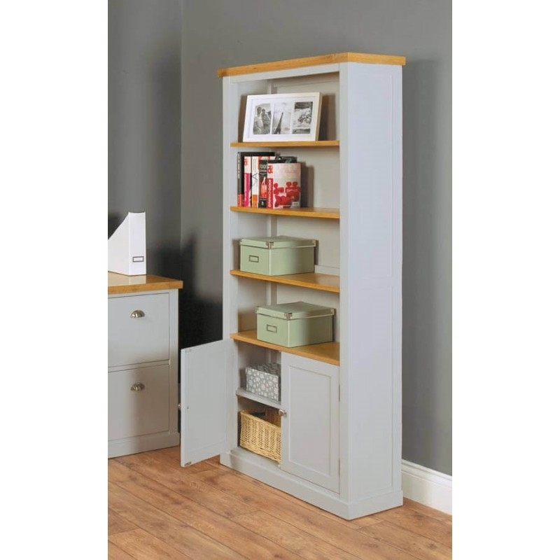 Well Known Painted Oak Bookcases In Light Grey Painted Oak Veneer Bookcases (View 12 of 15)