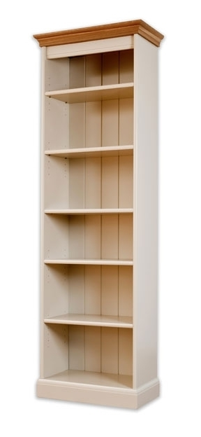 Well Known Painted Oak Bookcases Pertaining To Impressive Tall Narrow Bookcases Architecture And Interior (View 14 of 15)
