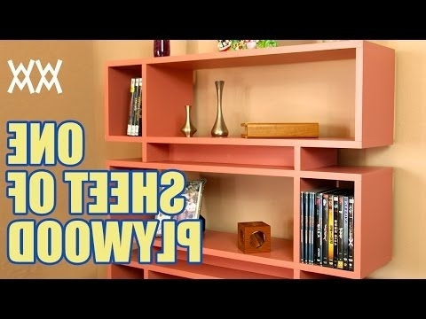 Well Known Plywood Bookcases Pertaining To Make A Bookcase Using A Single Sheet Of Plywood – Youtube (View 15 of 15)