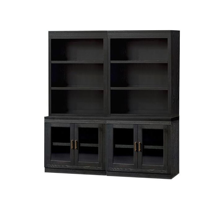 Well Known Reynolds Open Bookcase With Glass Door Cabinets (View 15 of 15)