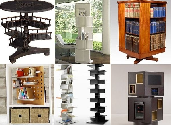 Well Known Rotating Bookcases Regarding 10 Stylishly Rotating Bookshelves – Hometone – Home Automation And (View 15 of 15)