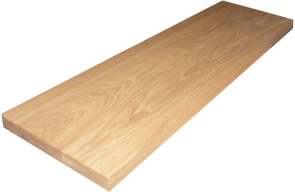 Well Known Solid Oak Shelves Intended For Handmade Bespoke Solid Oak Floating Shelf – 35mm Thick (View 4 of 15)