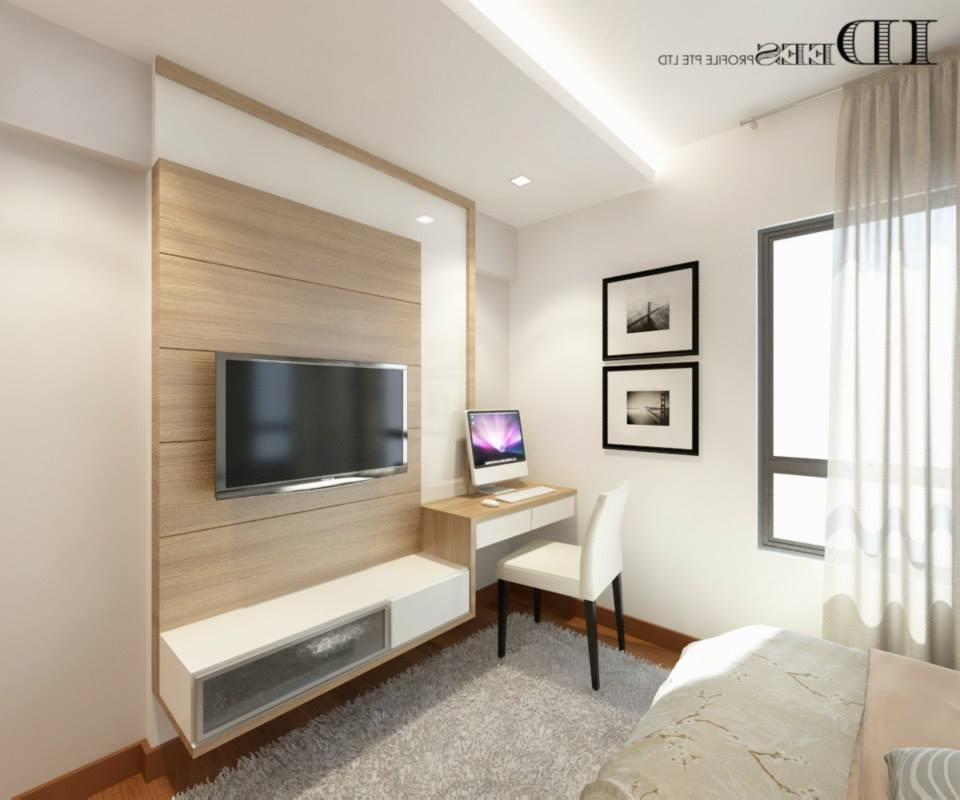 Well Known Study Wall Unit Designs Throughout Study Hdb Dbss @ Parkland Residences – Interior Design Singapore (View 15 of 15)