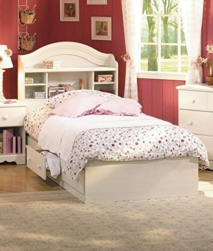 Well Known Twin Bed With Bookcases Headboard Throughout Amazon: South Shore Summer Breeze Twin Bookcase Headboard And (View 15 of 15)