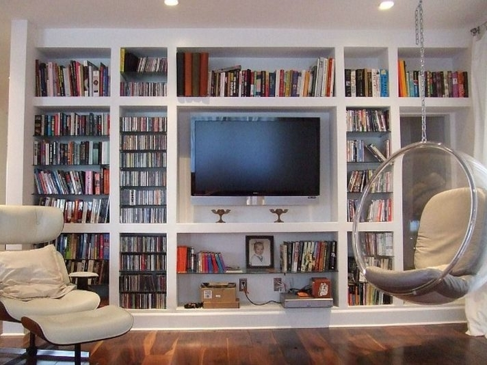 Well Known Unique Tv Stand With Bookshelves For Your Home Design Ideas Space In Bookcases With Tv Shelf (View 14 of 15)