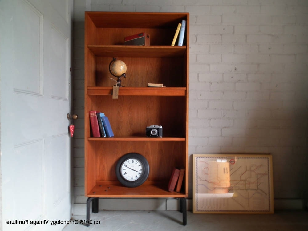 Well Known Vintage Retro Teak G Plan 60s 70s Bookcase Shelves Cabinet Regarding Bookcases Cupboard (View 12 of 15)