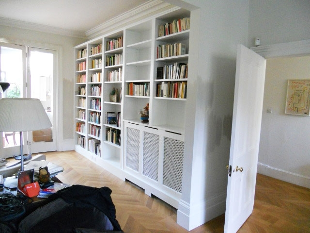 Well Known Wall Shelves Design: Full Wall Shelving Unit Design 2017 Wall To Within Radiator Cover Bookshelves (View 14 of 15)