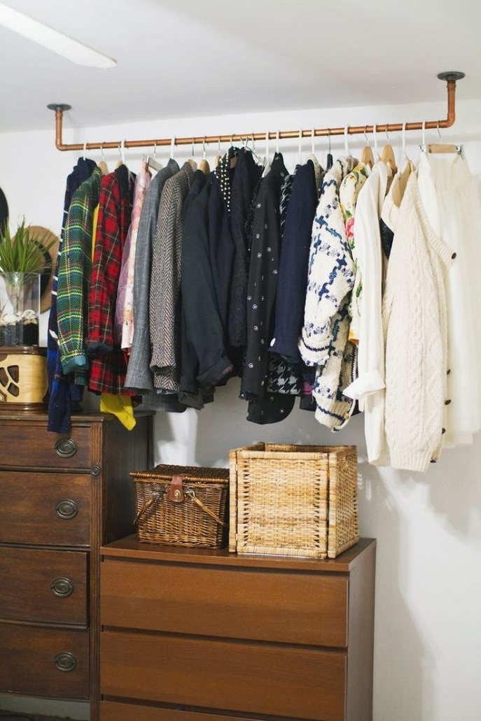 Well Known Wardrobes Hangers Storages Throughout Closet Storage : Wayfair Wardrobe Closet Garment Racks Bedroom (View 15 of 15)