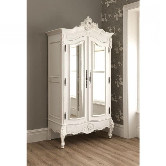 Well Known White Wardrobe Armoire With Mirror Door On Kahrs Flooring And Intended For White Wardrobes Armoire (View 7 of 15)
