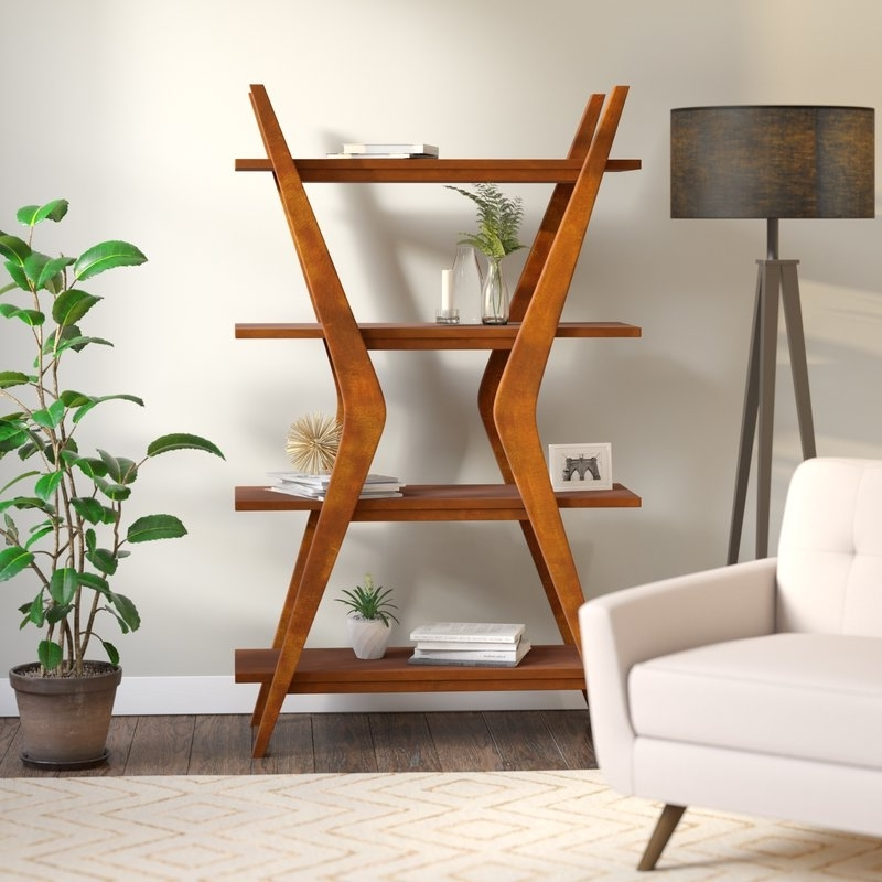 Well Known Woodcrest Ladder Bookcase & Reviews (View 12 of 15)