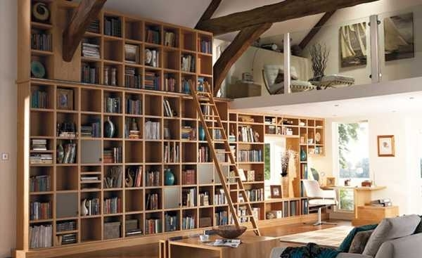 Well Liked 25 Creative Book Storage Ideas And Home Library Designs Pertaining To Home Library Shelving Systems (View 13 of 15)