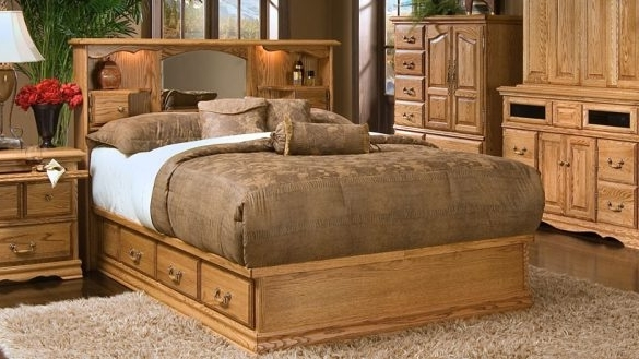 Well Liked Amazing Bookcases Ideas Platform Storage Bed Bookcase Headboard Regarding Queen Size Bookcases Headboard (View 14 of 15)