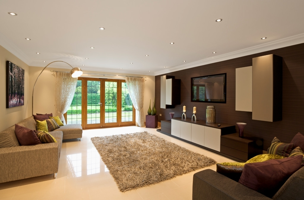 Well Liked Bespoke Tv Unit Regarding Modern Dark Wood Built In Tv Unit (View 15 of 15)