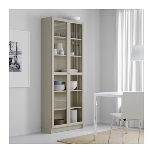 Well Liked Billy Bookcase With Doors – Beige – Ikea For Glass Door Bookcases (View 15 of 15)
