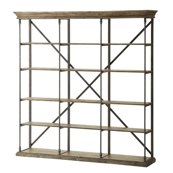Well Liked Bookcases Ideas: Metal And Wood Bookcase With Ladd ~ Munro Inn Intended For Iron And Wood Bookcases (View 15 of 15)